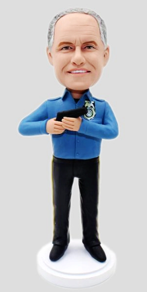 Custom Personalized Bobblehead For Police Officer